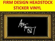 STICKER FIRM WHITE ACE FREHLEY KISS DESIGN VISIT MY STORE FOR GUITAR & BASS