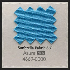"Sunbrella Fabric 60"" Wide Azure By the Yard NEW COLOR"