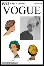 Vogue # 9093 Sally Victor BERET Hat Cap Fabric Sew Pattern Chemo Cancer Alopecia