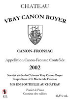 CHATEAU VRAY CANON BOYER 2012 FRONSAC BALTHAZAR 12L