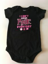 Baby Girls Garanimals Black I Can't Wear PINK Everyday One Piece Outfit 18 month