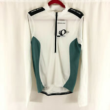 Pearl Izumi Mens Quest Long Sleeve Cycling Jersey 1/2 Zip White Size S