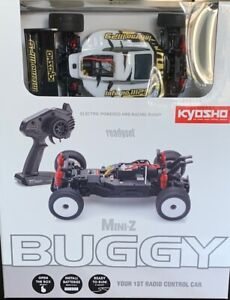Kyosho Mini-Z, Buggy READYSET 4WD INFERNO MP9 TKI3 WEISS-SCHWARZ + Zubehör Set