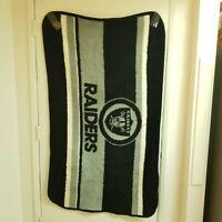 Vintage San Marcos NFL Oakland Raiders Blanket Football Heavy 57x33