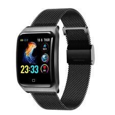 Smart Wristband Watch Sleep Heart Rate Monitor Metal Strap Bracelet F9 1.3 inch