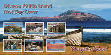 Norfolk Island 2016 FDC Diverse Phillip Island 6v Set Cover Tourism Stamps