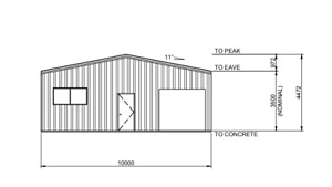 Steel Framed Buildings - Elevation Drawing - Bespoke quote to supply document! -