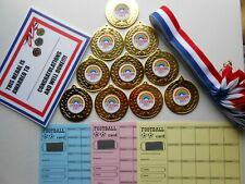 LOCKDOWN 2021 MEDALS - 50MM METAL - WITH RIBBONS AND CERTIFICATES SET OF 10