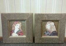 THE BOMBAY COMPANY Florentine Girl I & II Prints Framed Wall Decor Set of 2