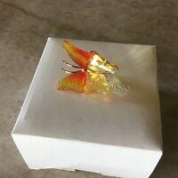 Swarovski Crystal Abala Fire Opal Butterfly Small Object Mint in Box 250 426