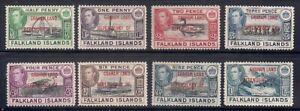 Falkland Is.-Dep.   1944   Sc # 2L 1-8    VLH   OG    (52586)