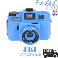 Holga 120-Gcfn-Be Blue Lomo Medium Format Film Camera Colour Flash Uk Stock