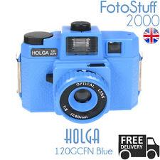 HOLGA 120-GCFN-BE BLUE Lomo Medium Format Film Camera Colour Flash UK STK