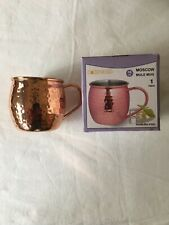 Mug Barrel16oz Copper Plated Hammered Stainless Steel Moscow Mule Mug New in Box