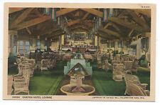 1930s Postcard Grand Canyon Hotel Lounge Interior