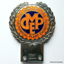 1960s JR GAUNT Car Badge - Contractors Mechanical Plant Engineer CMPE - Mascot