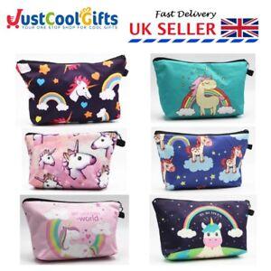 3D Unicorn Celeb MAKE UP BAG / GIFT Case Cosmetic Travel Girls Women UK SE