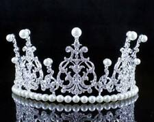 Pearl Austrian Rhinestone Tiara Crown Bridal Wedding Pageant Prom Party T46