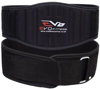 EVO Weight Lifting Neoprene Gym Belts GEL Back Support Straps Wraps Waist Train