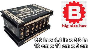 Handcrafted Wood Shelf Hidden Secret Compartment Jewelry Box Safe Gun Money Rack