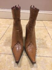 Womens Baroco Collection $200 Pointed Toe Zip Up Ankle Boots Sz 40 Beautiful