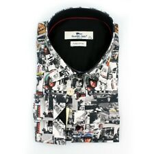 CLAUDIO LUGLI STEVE MCQUEEN PRINT PURE COTTON MENS SHIRT CP 6296 MRP £95 -BLACK