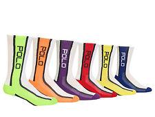 Polo Ralph Lauren Technical Sport White Stripe Crew Socks 6-Pack UK 9-12 Mens