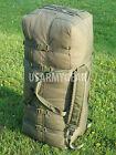 US Army Military Deployment Duffle Flight Sea Bag Back Pack OD USGI w. Flag VGC