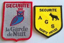 FRANCE: Lot de 2 écussons insigne sécurité neufs.