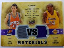 2009-2010 Upper Deck Vs Materials Kobe Bryant Jersey Steve Nash #VS-BN, #'d /600