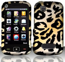 For Motorola EX124g Rubberized HARD Protector Case Snap on Phone Cover Cheetah