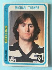 Scanlens 1979 VFL Trading Card 115 Michael Turner Geelong Cats
