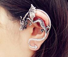 NEW Vintage Silver Rock Punk Style Metallic Dragon Wing Ear Cuff Wrap Earring AL