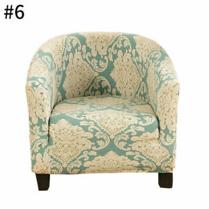 Club Chair Cover Stretch Armchair Slipcover Bar Living Room Tub Protector Cover