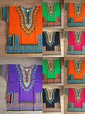 DASHIKI SHIRT AFRICAN TRIBAL PONCHO MEXICAN HIPPIE TRIBAL FESTIVAL COTTON TSHIRT