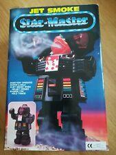 COLLECTOR VINTAGE70's/80's ROBOT JET SMOKE STAR MASTER  DANS SA BOÎTE D'ORIGINE