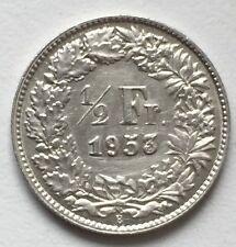 1/2 Franken 1953 B Schweiz .835 Silber KM#23
