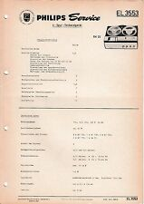 Manuel d'instructions service pour PHILIPS EL 3553, RK 25