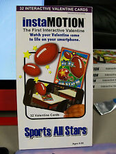 INSTAMOTION SPORTS ALL STARS 32 VALENTINE CARDS INTERACTIVE SMARTPHONE NEW