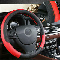 1* Car PVC Leather Steering Wheel Cover Anti-slip Protector 38cm /15inch Red sd