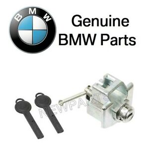 For Mini R55 R57 R58 Cooper Front Driver Left Door Lock Cylinder w/ Key Genuine