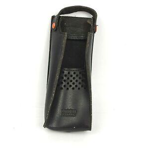 Uniden Bearcat Radio Walkie Talkie Leather Holster with Holding Strap Belt Hook