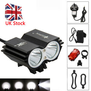 50000Lm Cycling Front Light Bicycle Mountain Bike LED Head+Rear Lamp+ Battery