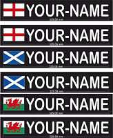 Rally Driver Name Tags With Flag Motorsport Vinyl Decals Race Car Stickers x 2