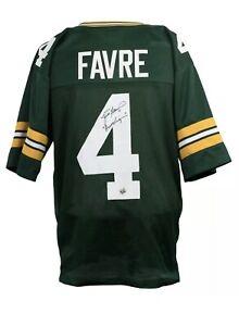 Brett Favre Signed Green Bay Packers Custom  Jersey  Gunslinger OBF COA.