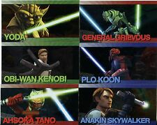 Star Wars Clone Wars Widevision Complete Foil Character Chase Card Set #1-20