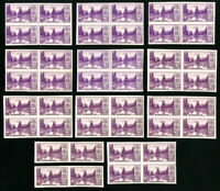 US Stamps # 758 VF OG NH Lot of Pairs and Blocks 44 Stamps Scott Value $230.00