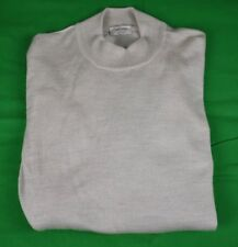 Gran Sasso Solid Cream Color Wool/Silk/Cashmere Blend Moc Neck Sweater Size: XL