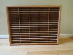 VTG 100 Cassette Tape Holder Storage Rack Wooden NapaValley Box - Wall Mountable