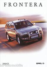 Opel Frontera Prospekt 2/99 brochure Autoprospekt Auto Pkw Geländewagen 1999